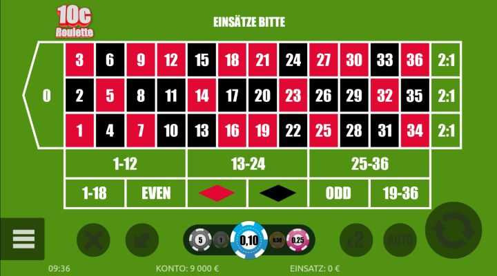 10c Roulette Vorschau
