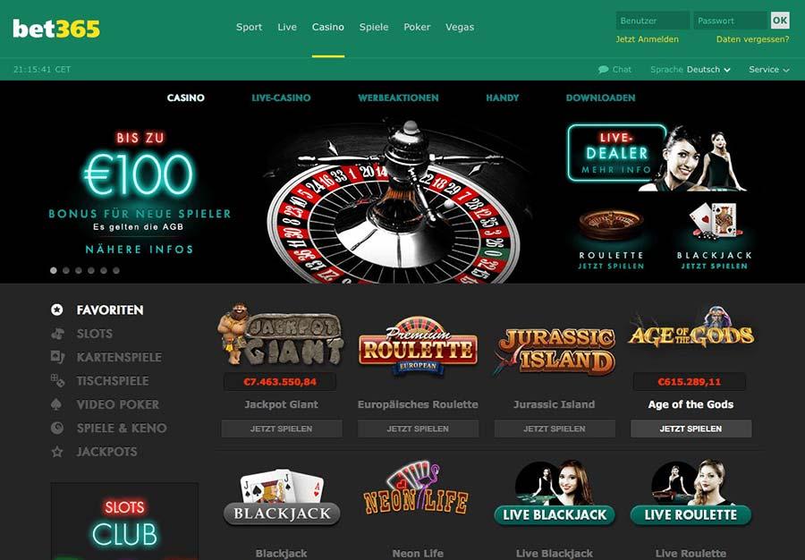 bet365 Casino Vorschau