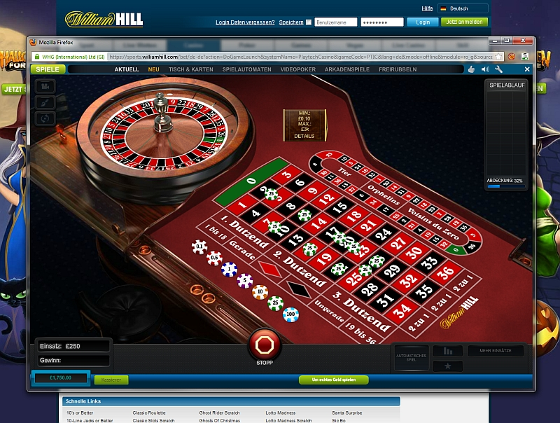 online william hill casino royal roulette