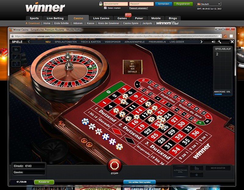 online casino winner european roulette